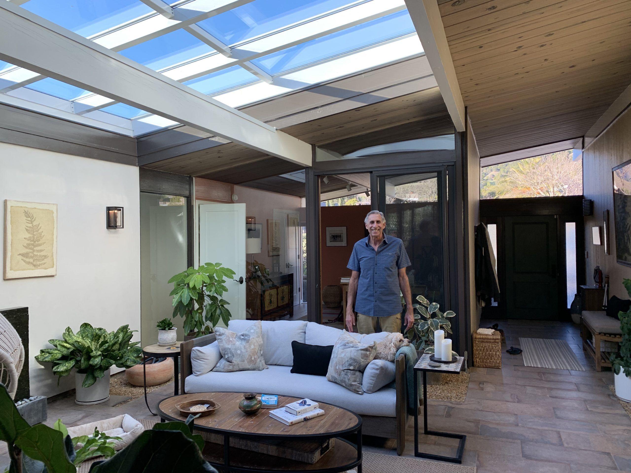 Eichler atrium skylight