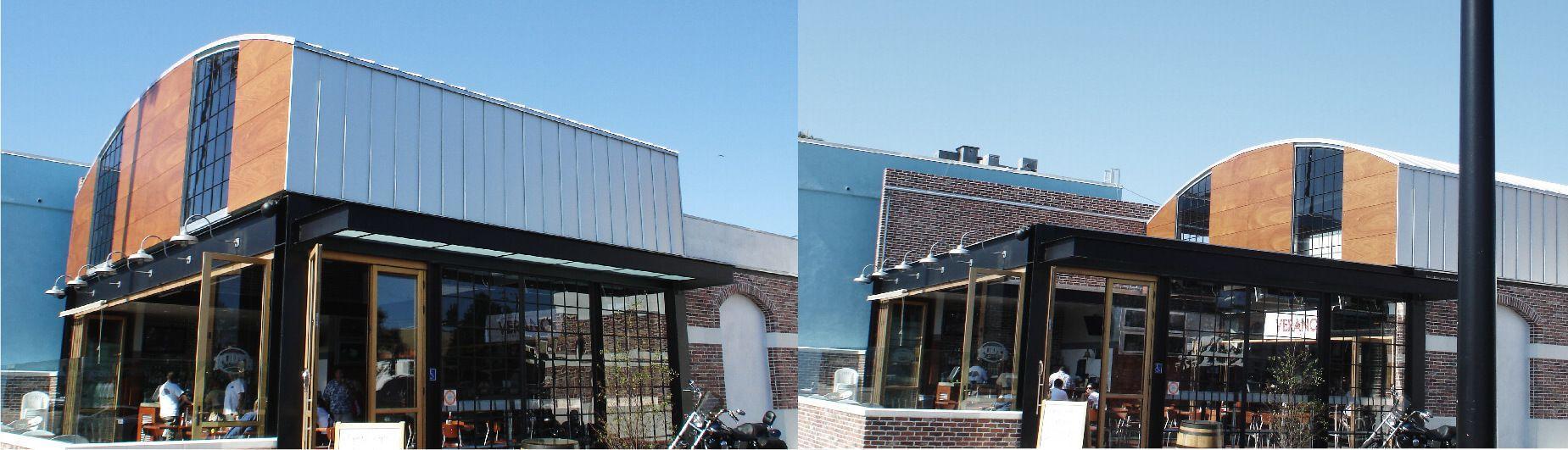 restaurant retractable roof header
