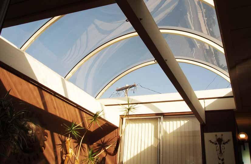 Eichler barrel vault roof